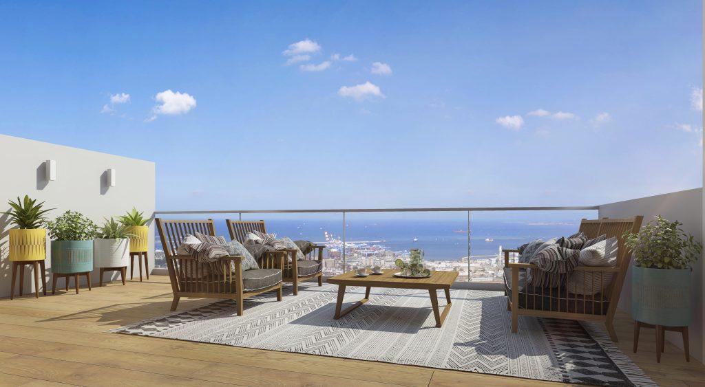 דירה עם נוף לים בחיפה